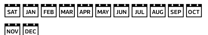 Acta Symbols Time Font LOWERCASE
