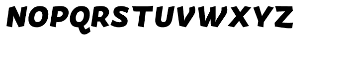 Actium Black Italic Font UPPERCASE
