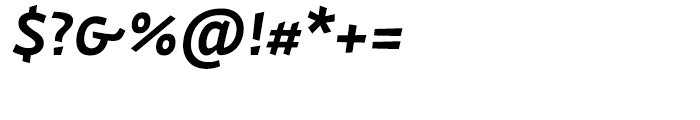 Actium SemiBold Italic Font OTHER CHARS