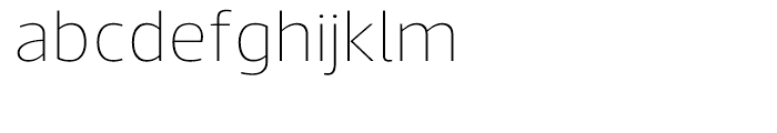 Acto Thin Font LOWERCASE