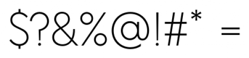 Acre Thin Font OTHER CHARS