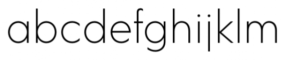 Acre Thin Font LOWERCASE