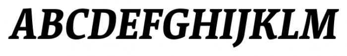 Acuta Bold Italic Font UPPERCASE