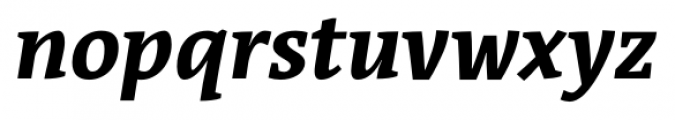 Acuta Bold Italic Font LOWERCASE