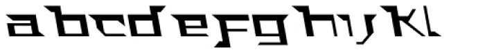 ACT Stern A Italic Font LOWERCASE