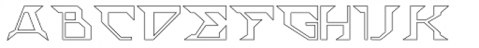 ACT Stern Outline Font UPPERCASE