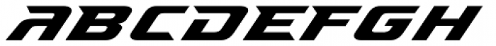 Accelerator Font LOWERCASE
