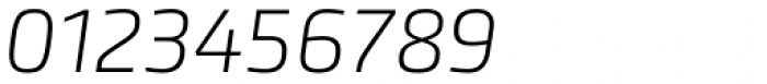 Accura UltraLight Italic Font OTHER CHARS
