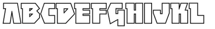Achtung Baby Kontur Font UPPERCASE