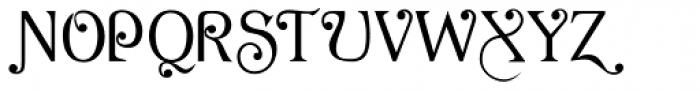 AcornSwash Altern Font UPPERCASE