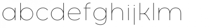 Acrom Thin Font LOWERCASE