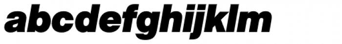 Acronym ExtraBlack Italic Font LOWERCASE