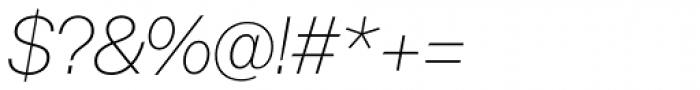 Acronym UltraLight Italic Font OTHER CHARS