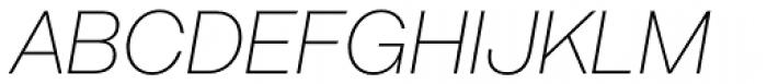 Acronym UltraLight Italic Font UPPERCASE