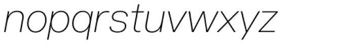 Acronym UltraLight Italic Font LOWERCASE
