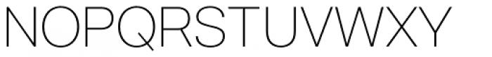 Acronym UltraLight Font UPPERCASE