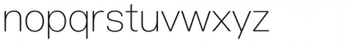 Acronym UltraLight Font LOWERCASE