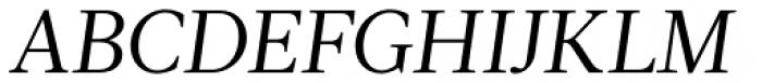 Acta Book Italic Font UPPERCASE