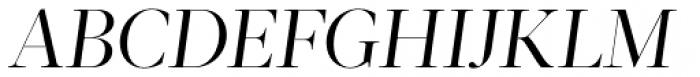 Acta Display Book Italic Font UPPERCASE