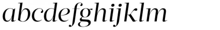Acta Display Book Italic Font LOWERCASE