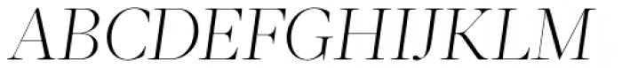 Acta Display Light Italic Font UPPERCASE