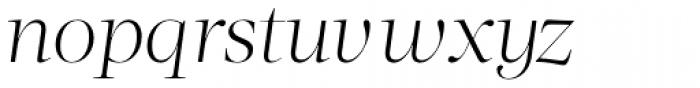 Acta Display Light Italic Font LOWERCASE