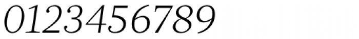 Acta Light Italic Font OTHER CHARS