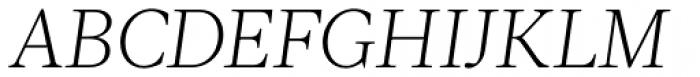 Acta Light Italic Font UPPERCASE