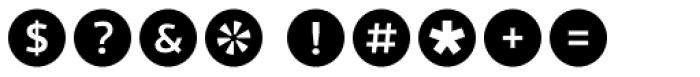 Acta Symbols Circles Font OTHER CHARS