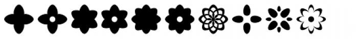 Acta Symbols Flowers Font UPPERCASE