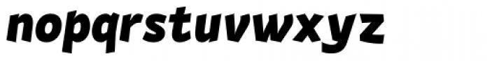 Actium Black Italic Font LOWERCASE