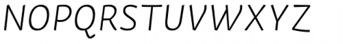 Actium Light Italic Font UPPERCASE
