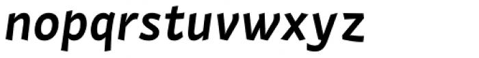 Actium SemiBold Italic Font LOWERCASE
