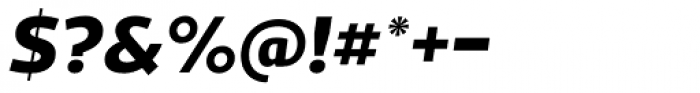 Acto ExtraBold Italic Font OTHER CHARS