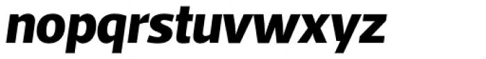Acto ExtraBold Italic Font LOWERCASE