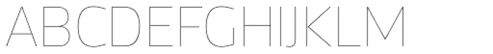 Acto Hairline Font UPPERCASE