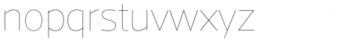 Acto Hairline Font LOWERCASE