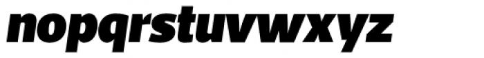 Acto UltraBlack Italic Font LOWERCASE
