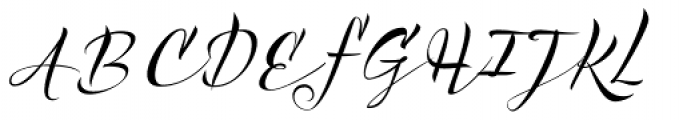 Acustica Script Font UPPERCASE