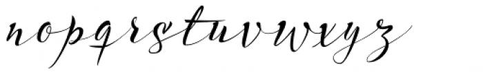 Acustica Script Font LOWERCASE