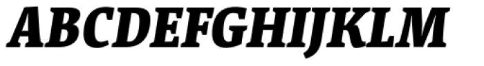 Acuta Black Italic Font UPPERCASE