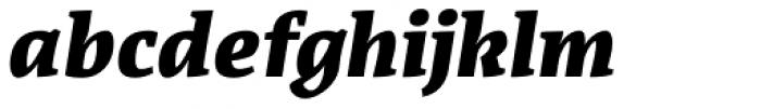 Acuta Black Italic Font LOWERCASE