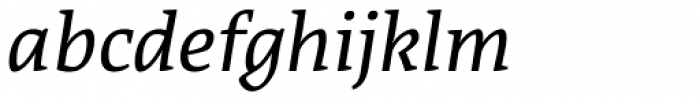 Acuta Light Italic Font LOWERCASE