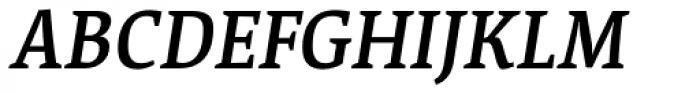 Acuta Medium Italic Font UPPERCASE