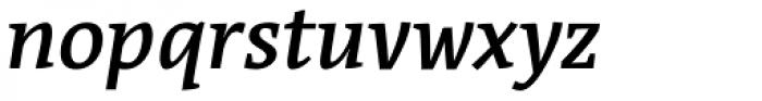 Acuta Medium Italic Font LOWERCASE