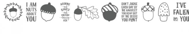 acorn dingbats font Font UPPERCASE