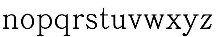 AR ShuLinSongGBStd MD Font LOWERCASE