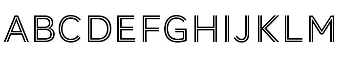 AWConqueror Std Inline Regular Font LOWERCASE
