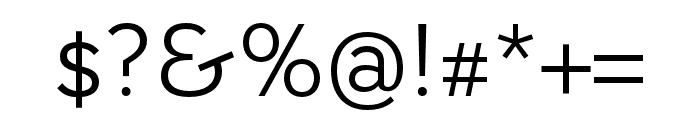 AWConqueror Std Sans Light Font OTHER CHARS