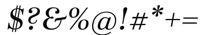 Abril Fatface Italic Font OTHER CHARS